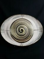 """Vintage Mod Oval Platter 1957 Stetson China  """"Whirlpool"""" 13 3/4"""" Hand Painted"""