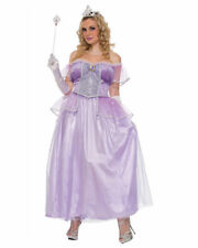 Princess Dress Lavender Poly Satin & Velour Adult Fairy Tale Gown & Belt Pls Sz
