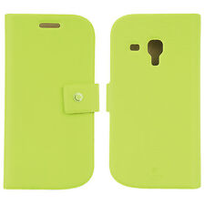 FENICE Diario Samsung Galaxy S III Mini Premium Italian PU Leather Case - Green