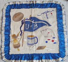 Antique Embroidered University of Buffalo Pillow Sham Football Cigarettes