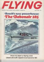 Flying Magazine April 1967 The Debonair 285 , COMANCHE 180 . PIPER PLANE AD