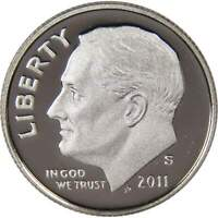 2011 S Roosevelt Dime Choice Proof Clad 10c US Coin Collectible