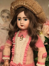 Antique ORIGINAL French PARIS Tete Jumeau Porcelaine Bisque Head doll 70 cm