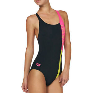 Arena Ipanema one piece Swimsuit Bathing Suit Swimsuit Black Pink Yellow