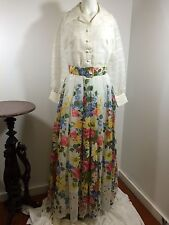 Vintage 50S 60S 70S Flower Long Dress Garden Party Wedding Prom Bridesmaid