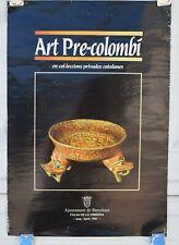 VINTAGE 1985 PRE-COLUMBIAN ART POSTER