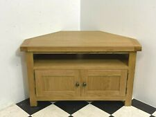 Modern Winchester rustic oak double door corner tv cabinet stand unit - Delivery
