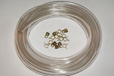 PUCH MOPED CARBURETOR 3/16 FUEL LINE CLEAR  5FT AND 15 CLAMPS