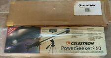 Celestron PowerSeeker 2 60 60mm Telescope w/ tripod, case New in box 21028-Ct