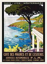 Affiche chemin de fer PLM - Côte des Maures et de l'Esterel