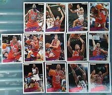 13 x WASHINGTON BULLETS Fleer 1994-95 NBA Basketball Cards