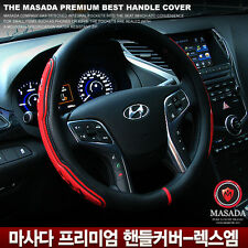 Gauss Premium Lux M Car Steering Wheel Cover - 37 cm Red color Gift For Drivers