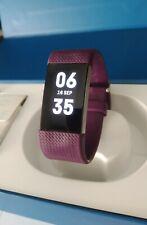 Fitbit Charge 2 Pulsera de Actividad física y Ritmo cardiaco talla S Purple