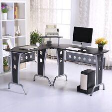 Mesas de Ordenador 165x145x86cm Oficina Escuela PC Torre Mesa Escritorio Estudio