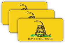 (3) Gadsden Flag USMC Hard Hat Decals / Labels / Stickers Marines Semper Fi USA