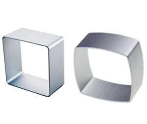 Smooth & Curved Square Cookie Cutter Biscuit Pastry Baking Cake Jelly 2 Pcs Set