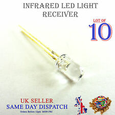 10x 940nm Infrared LED Receiver Transparent 5mm IR High Power Lamp