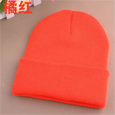 Winter Warm Unisex Wool Hat Men's Women Beanie Knit Ski Cap Hip-Hop Blank Color