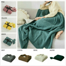 Knitted Warm Throw Tassel Blanket Throws Twin Queen Throw Soft Plush Sofa Bed