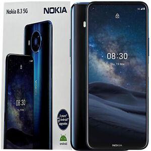 BNIB Nokia 8.3 Dual-SIM 128GB Polar Night  Android Factory Unlocked 5G Simfree