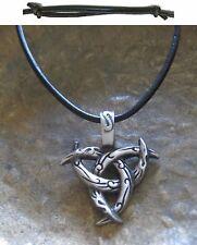 horntriskele Pendant Leather Black Men's Celtics New Necklace Necklace
