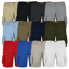 westAce Mens Cargo Combat Shorts Casual Work Wear 100% Cotton Cargo Half Pants