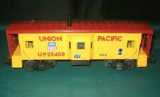 MTH O GAUGE, 3-RAIL, UNION PACIFIC BAY WINDOW CABOOSE, ILLUMINATED,#25400