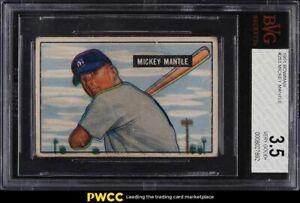 1951 Bowman Mickey Mantle ROOKIE RC #253 BVG 3.5 VG+