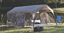 LARGE 8 Person FAMILY CAMPING TENT w/ Movie Screen LED Lights Closets 18 x 14 ft