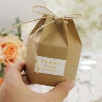 Candy Dragee Box Kraft 10pcs Gift Bag Wedding Favor Boxes Party Supplies