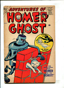 """ADVENTURES OF HOMER GHOST #2 - ROBOT COVER  """"Fisherman Collection"""" (3.0) 1957"""