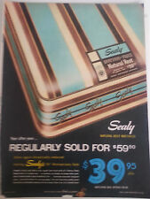 1946 Sealy Natural Rest Bed Mattress 75th Anniversary Sale Color Original Ad