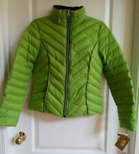 Ladies Green Preston & York Puffer Jacket  W/ Duck Down And Feathers Size S
