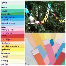 Custom paper chains 7 Meters! You choose colours Wedding White ivory pink blue
