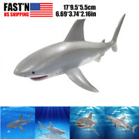 6.69 inch Lifelike Shark Shaped Toy Realistic Funny Animal Model Kids Toy