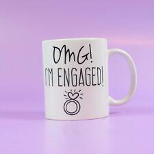 Engagement coffee mug OMG! I'm engaged! just engaged gift bride to be Engagement