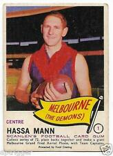 """1966 Scanlens (1) Hassa MANN Melbourne """" """""""
