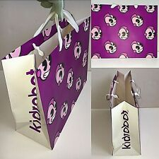 Kidrobot New York Paper Shopping Bag Purple White 16 X 12 1/2 X 6