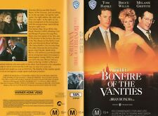 THE BONFIRE OF THE VANITIES -VHS -PAL -NEW - Never played! - Original Oz release