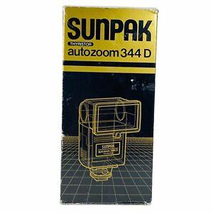 SUNPAK 344D Auto Zoom Dedicated Flash For Minolta Cameras Thyristor New in Box