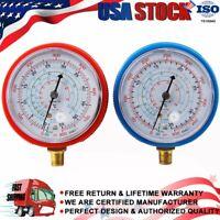 HIGH & LOW PRESSURE GAUGE SET R134a R22 R404A R410A Refrigerant Pressure Gauge