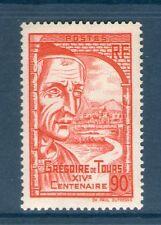 TIMBRE N° 442 NEUF ** SANS CHARNIERE GOMME D'ORIGINE - GREGOIRE DE TOURS