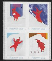 US Scott #5243-46, DOUBLE SIDED Block of 4 2017 Snowy Day VF MNH