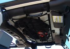 JEEP WRANGLER JL JK TJ YJ CARGO NET BACK WINDOW, EXTRA STORAGE, ROOF NET HAMMOCK