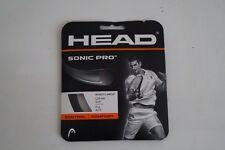 Head Sonic Pro 17g Tennis String Black