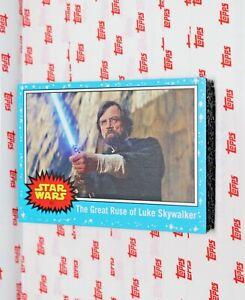 2019 Topps Journey to Rise of Skywalker Base #89 Great Ruse of Luke Skywalker