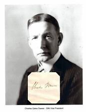 Charles Dawes Autograph Vice President Nobel Prize US Ambassador UK Currency