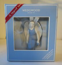 "Wedgwood Christmas Ornament Fairy Angel blue white aprox 4""x2.5"""