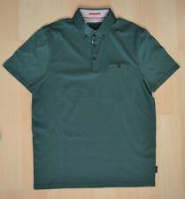 Men's Authentic Ted Baker GRAINYO Green Grosgrain Trim Polo Shirt Size 3 - M