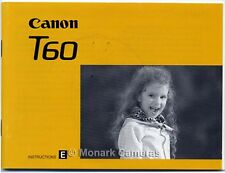 Canon T60 Instruction Manual, More Camera Guide Books Listed